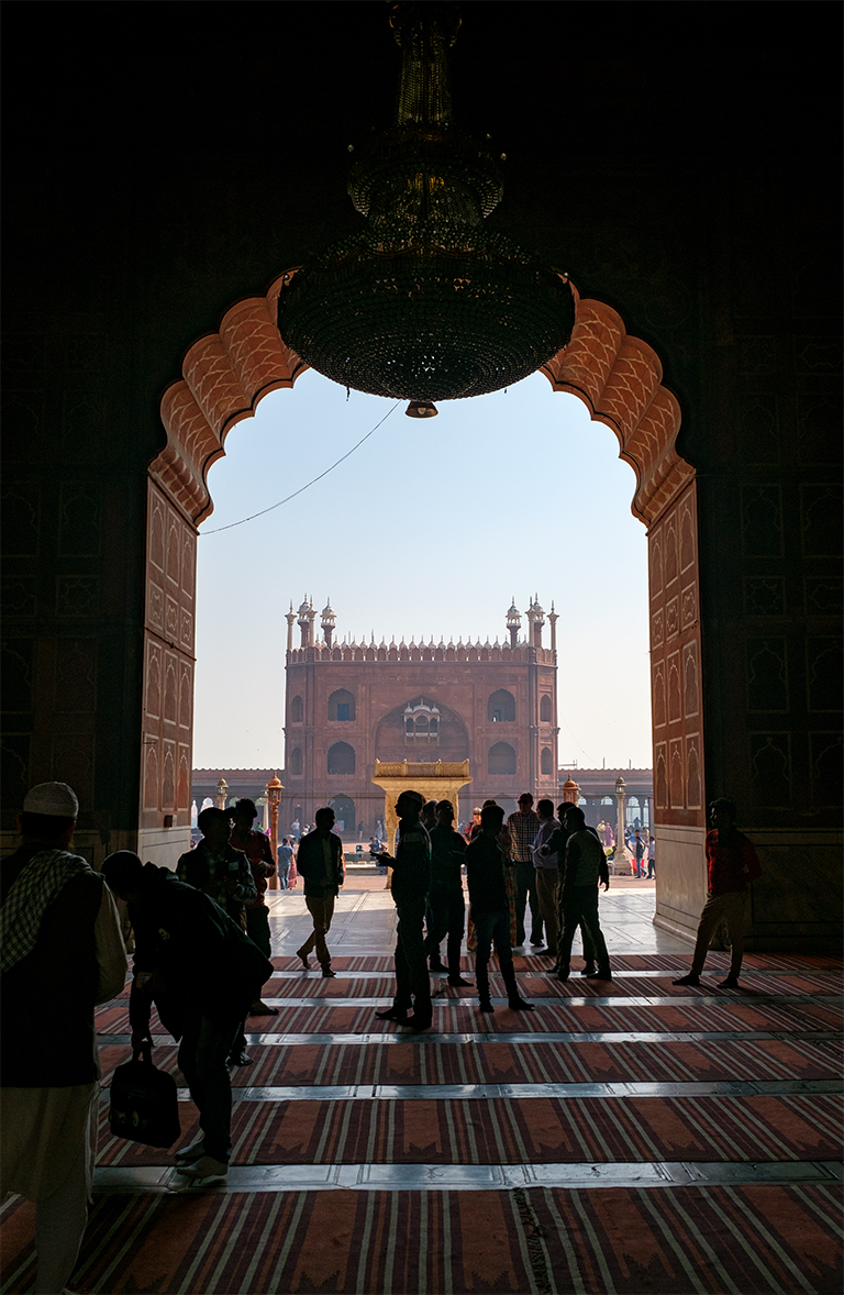 Jama Masjid Mosque, in Old Delhi, New Delhi, India