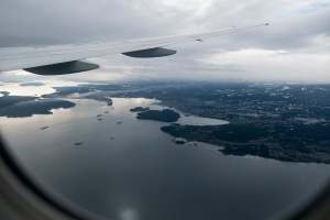 Nanaimo, from China Southern Airlines CZ329, on approach to Vancouver International Airport, British Columbia, Canada