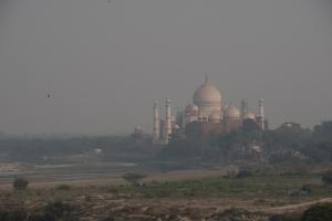Taj Mahal, from Red Fort, Agra, Uttar Pradesh, India