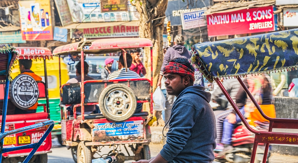 Auto Rickshaw Driver, Chandni Chowk (Old Delhi), New Delhi, India