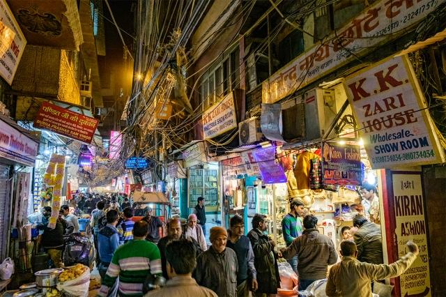 Night Market, Chandni Chowk Bazaar, Old Delhi, India