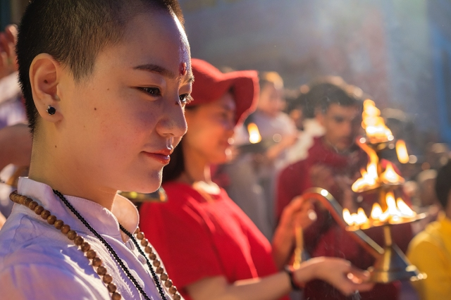 Divine Smile, Ganga Aarti, Parmarth Niketan Ashram, Rishikesh, Uttarakhand, India