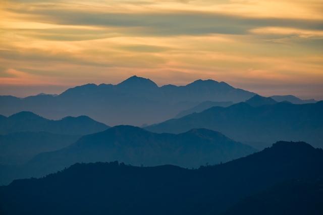 Himalaya Foothills Sunrise IV, Kunjapuri Devi Temple, Rishikesh, Uttarakhand, India