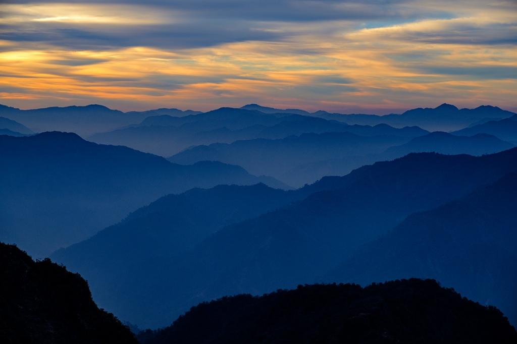 Himalaya Foothills Sunrise V, Kunjapuri Devi Temple, Rishikesh, Uttarakhand, India