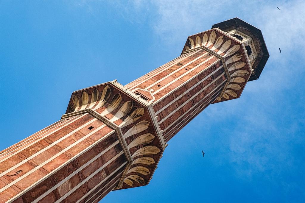 Minaret, Jama Masjid Mosque, Chandni Chowk (Old Delhi), New Delhi, India