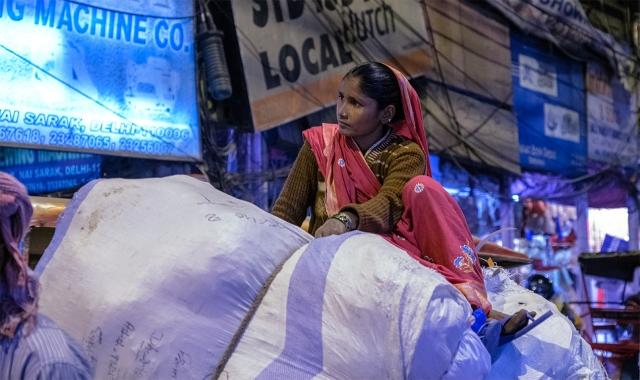 Queen of Chandni Chowk market in Old Delhi, New Delhi, India