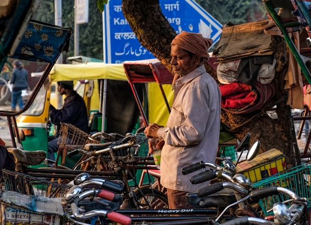 Bicycle Rickshaw Stand, New Delhi, India