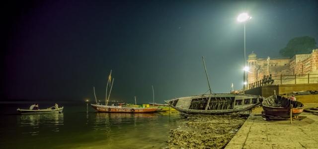 Boats, The Ganga (Ganges River), Varanasi, Uttar Pradesh, India