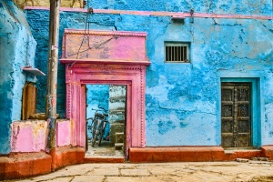 Vacant yet Vibrant, Alley in Kashi (Old Varanasi), Uttar Pradesh, India