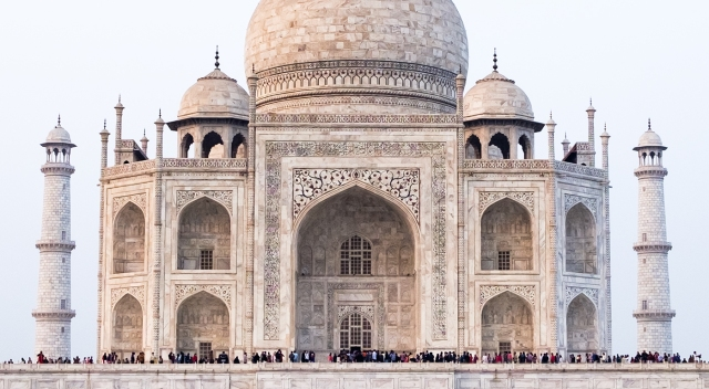 Queued For Viewing, Taj Mahal, Agra, Uttar Pradesh, India copy