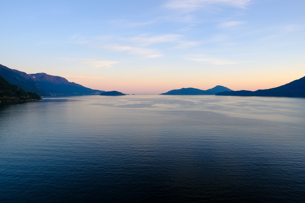 Magic Hour, Howe Sound, Sea to Sky Highway, Lion's Bay, British Columbia, Canada
