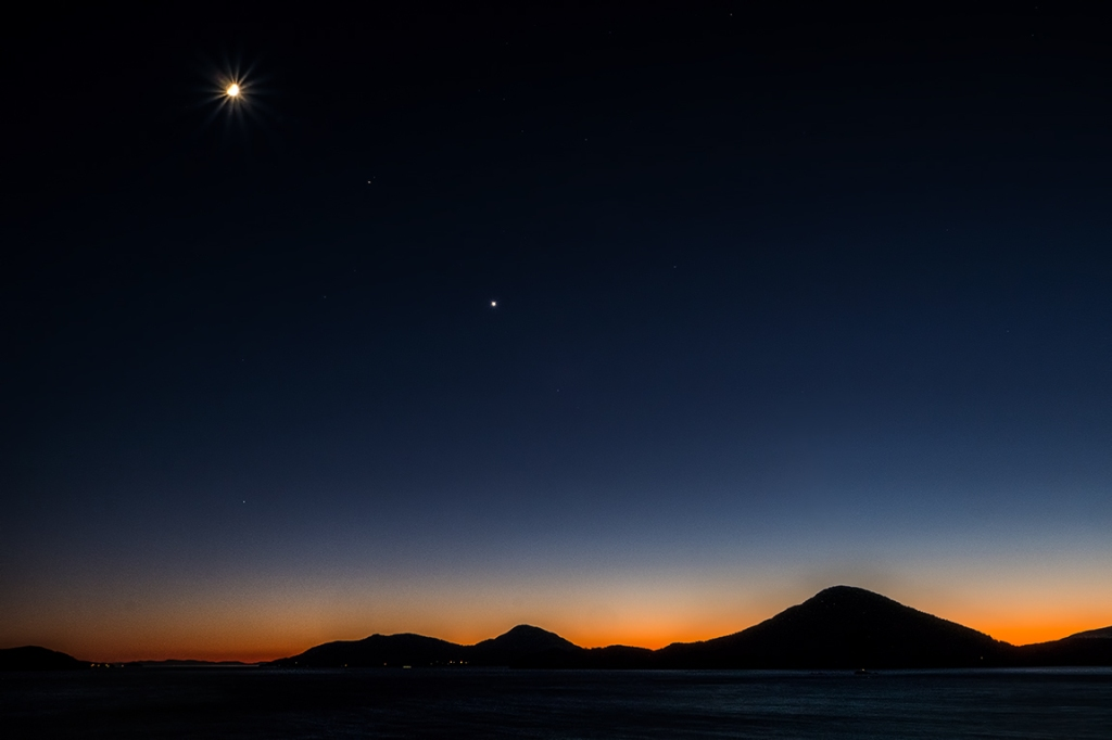 Moon over Bowen, Howe Sound, Sea to Sky Highway, Bowen Island and Horseshoe Bay, British Columbia, Canada-1
