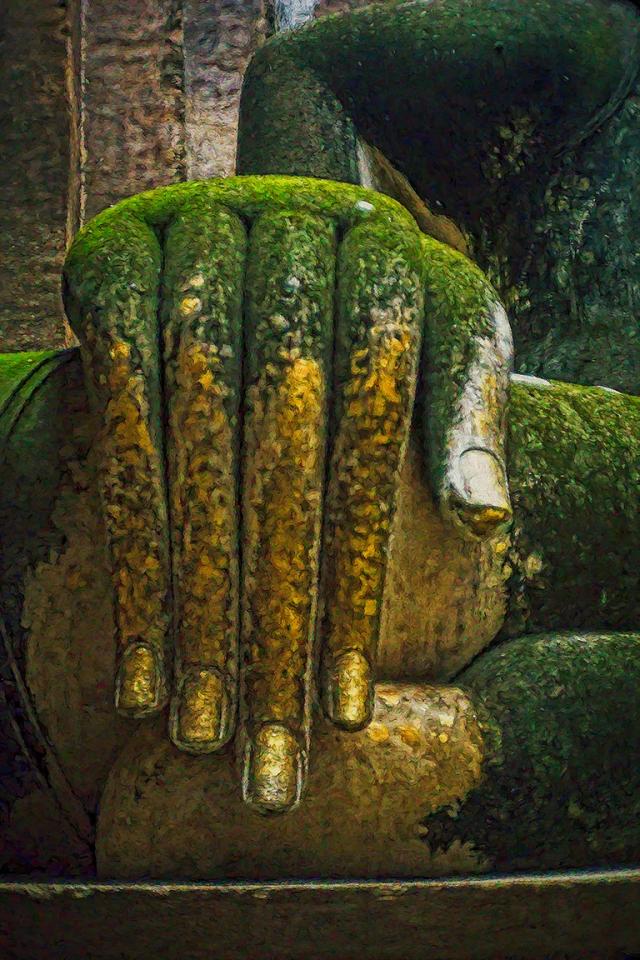 Buddha Subduing Mara, Wat Shri Chum, Sukhothai, Thailand
