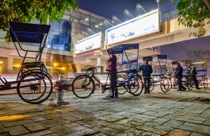 Ghostly Rickshaw, Lajpat Nagar Metro Station, New Delhi, India