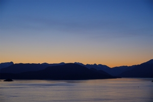 Pleasure Craft at Dusk, Howe Sound, Sea to Sky Highway, Horseshoe Bay, British Columbia, Canada