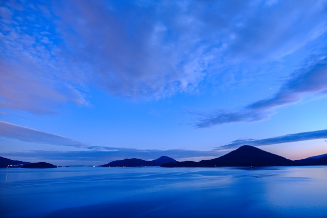 Gambier, Bowyer, Bowen and Horseshoe Bay, Howe Sound Sunset, Sea to Sky Highway, British Columbia, Canada