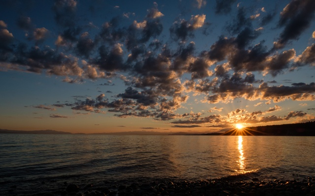 Sunset, Strait of Georgia, Gibsons, British Columbia, Canada