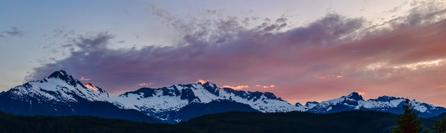 Tantalus Sunset, Tantalus Lookout, Sea to Sky Highway, Squamish, British Columbia, Canada