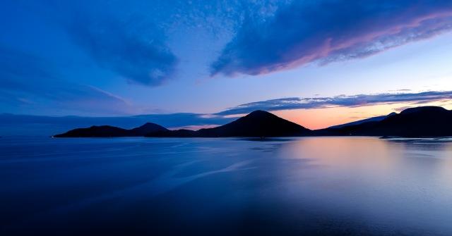 Twilight Encroaching, Howe Sound, Sea to Sky Highway, Lions Bay, British Columbia, Canada