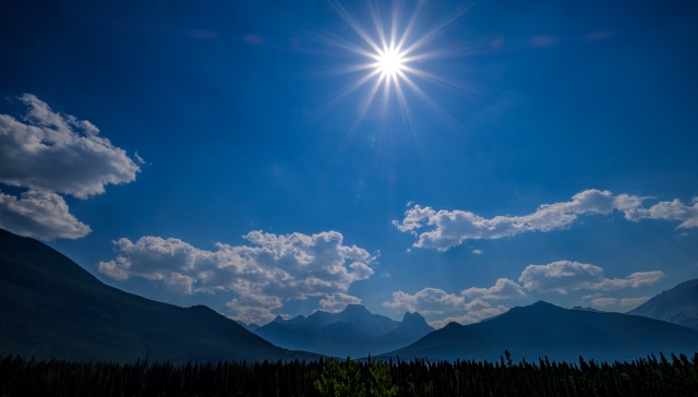 Clear Skies and Clouds, Canmore, Banff National Park, Alberta, Canada