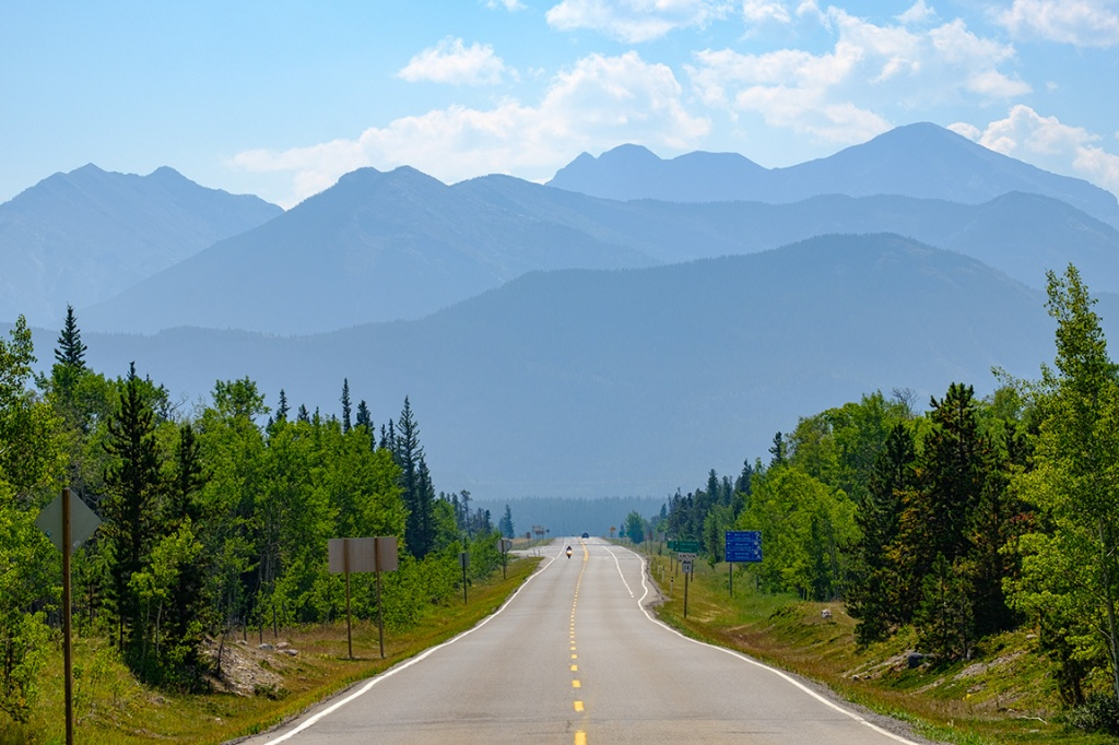Impending Rockies, Bow Valley Trail, Alberta, Canada