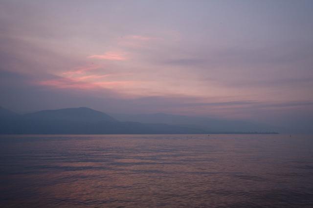 Pastel Twilight, Okanagan Lake, Vernon, British Columbia, Canada