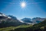 Rocky Mountain Starburst, Athabasca Glacier, From Wilcox Pass Trail, Jasper National Park, Alberta, Canada