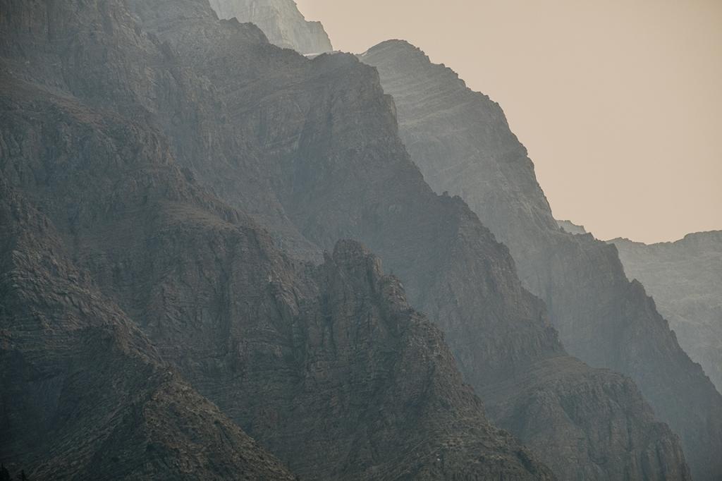 Striata in the Smoke, Rocky Mountains, Icefields Parkway, Banff National Park, Alberta, Canada