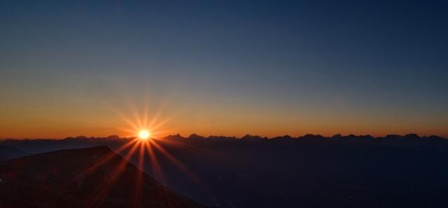 Sunset from Whistlers Mountain, Jasper Skytram, Jasper National Park, Alberta, Canada