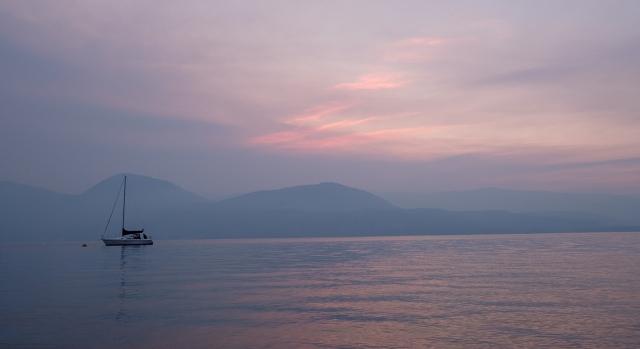 The Colour Fading, Eastside Road, Okanagan Lake, Vernon, British Columbia, Canada