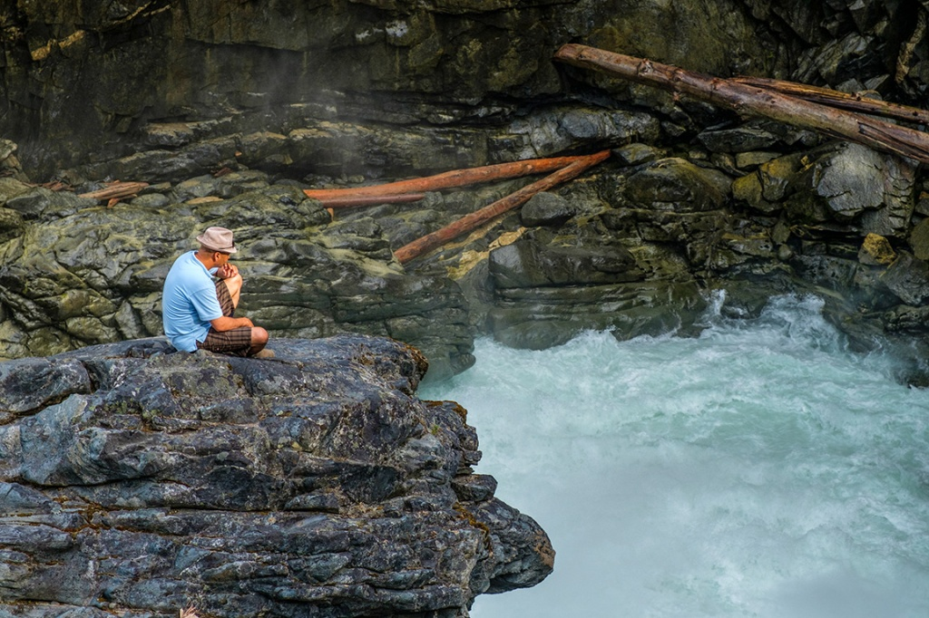 Contemplating Turmoil, Nairn Falls Provincial Park, Pemberton, British Columbia, Canada
