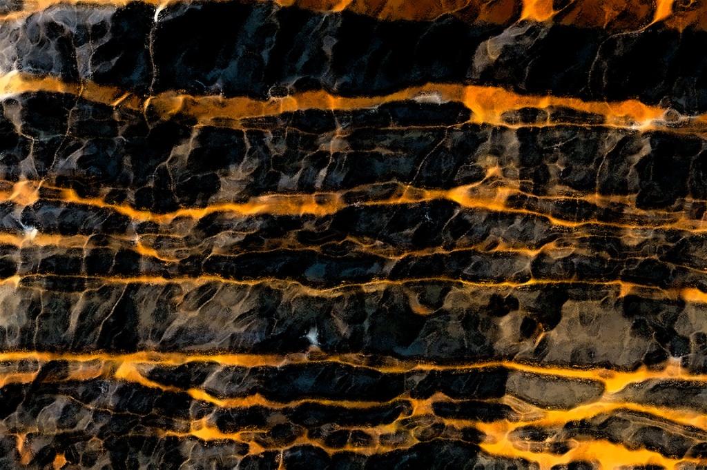 Gold, Rock, Athabasca Glacier, Jasper National Park, Alberta, Canada