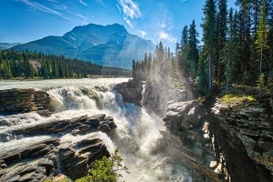 Tumult, Athabasca Falls, Athabasca River, Icefields Parkway, Jasper National Park, Alberta, Canada