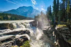 Tumult, Athabasca Falls, Athabasca River, Icefields Parkway, Jasper National Park, Alberta, Canada