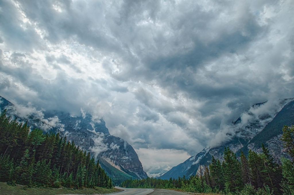 Valley of Clouds, Rocky Mountains, Trans Canada Highway, British Columbia, Canada