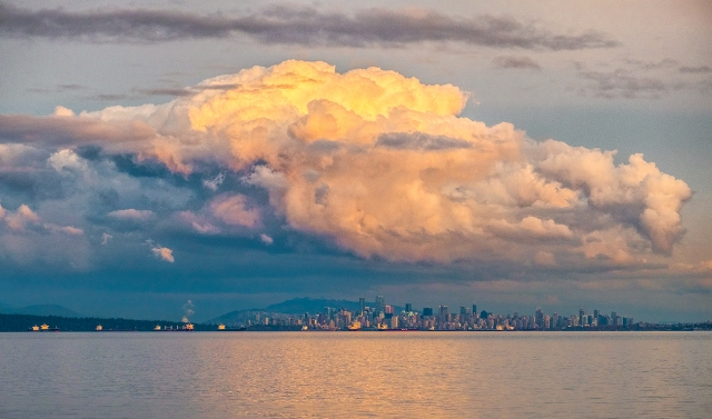Vancouver Storm Clouds, English Bay, Vancouver, British Columbia, Canada
