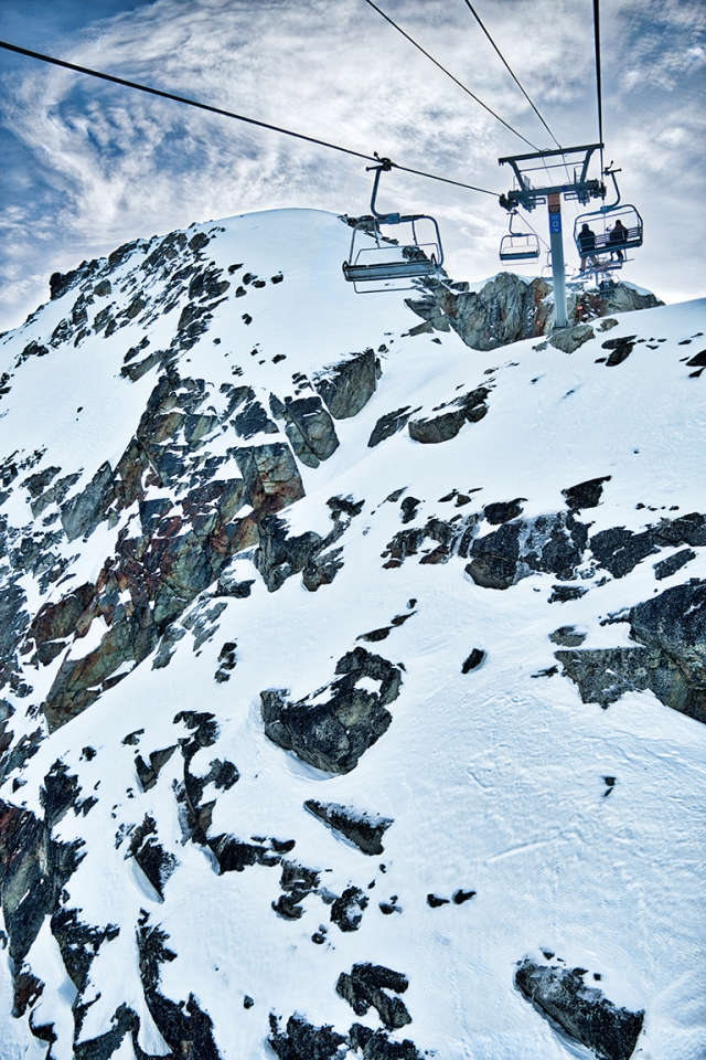 Ascent, Peak Chair, Whistler Mountain, British Columbia, Canada