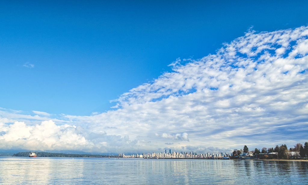 City on the Bay, Vancouver, From Jericho Beach, British Columbia, Canada