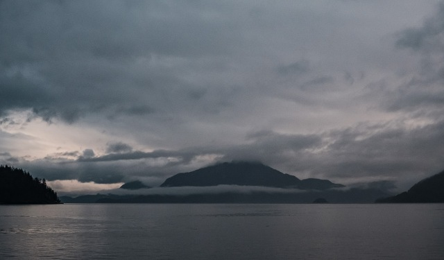 Cloud Cover, Porteau Cove, Howe Sound, Sea to Sky Highway, British Columbia, Canada