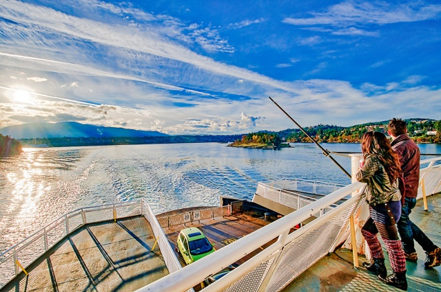 Departure Bay, BC Ferries, Nanaimo to Horseshoe Bay, Vancouver Island, British Columbia, Canada