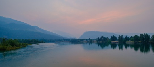 Embers in the Sky, Columbia River, Revelstoke, British Columbia, Canada