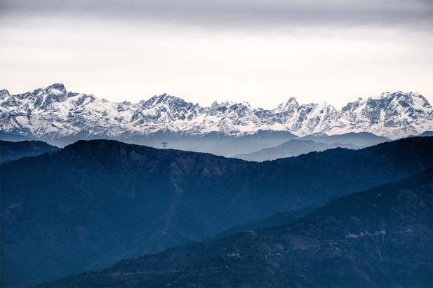 Himalaya Mountain Range, Kunjapuri Devi Temple, Rishikesh, Uttarakahnd, India