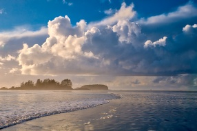 Shaping Clouds, Chesterman Beach, Tofino, Vancouver Island, British Columbia, Canada