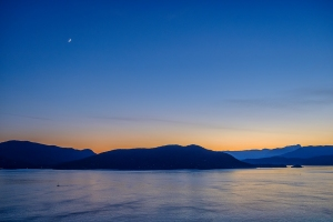 Small Craft and Infinity, Bowen Island, Howe Sound, From Horseshoe Bay, British Columbia, Canada