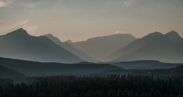 Smoke Valley, Lake Louise, Banff National Park, Trans Canada Highway, Alberta, Canada