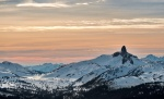 Sunset Looming, Black Tusk, Whistler Mountain, British Columbia, Canada