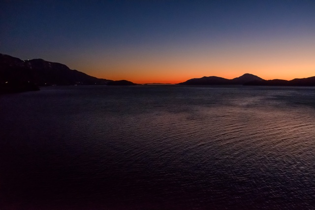 The Last Throes of Daylight, Howe Sound, Sea to Sky Highway, British Columbia, Canada