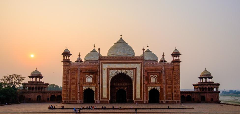 The Mosque, Taj Mahal, Agra, Uttar Pradesh, India