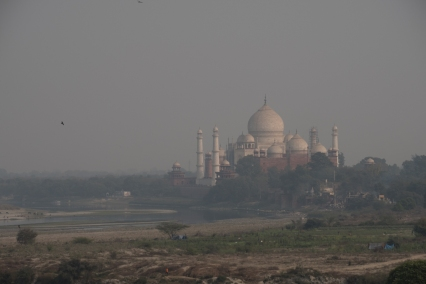 Through the Haze, Taj Mahal from Red Fort, Agra, Uttar Pradesh, India