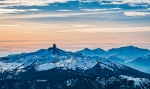 Warm and Cool, Black Tusk, From Whistler Mountain, British Columbia, Canada